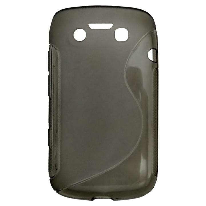 Чехол-крышка для BlackBerry 9790 черный полупрозрачный
