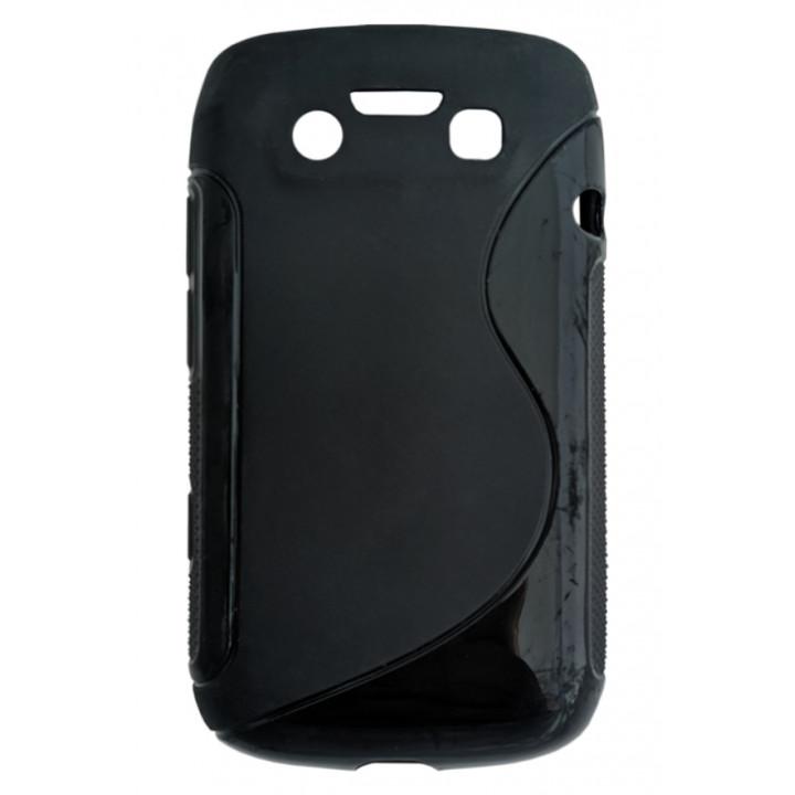 Чехол-крышка для BlackBerry 9790 черный волна