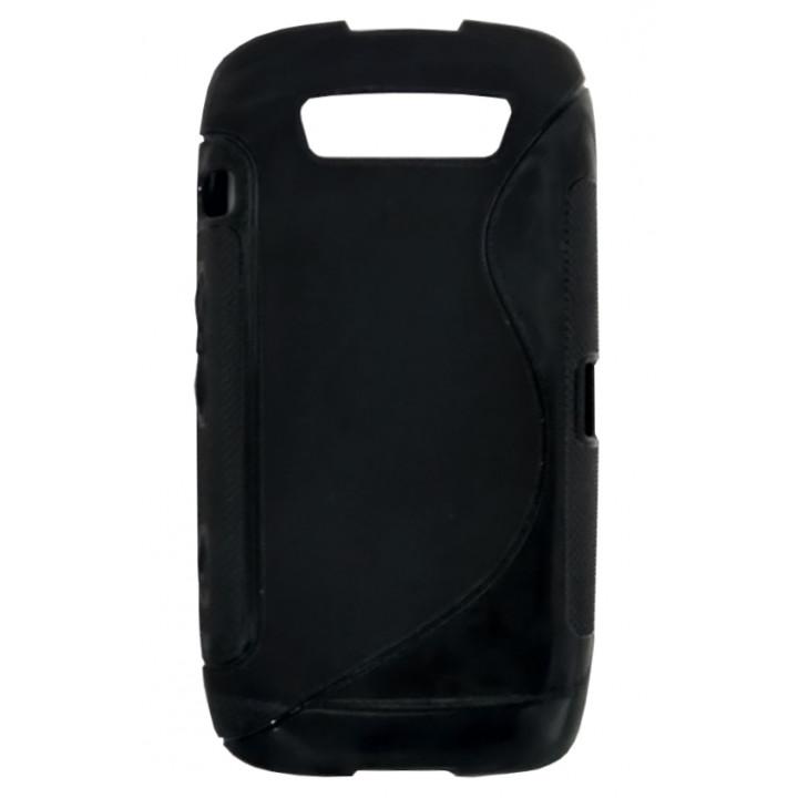 Чехол-крышка для BlackBerry 9860 черный с узором