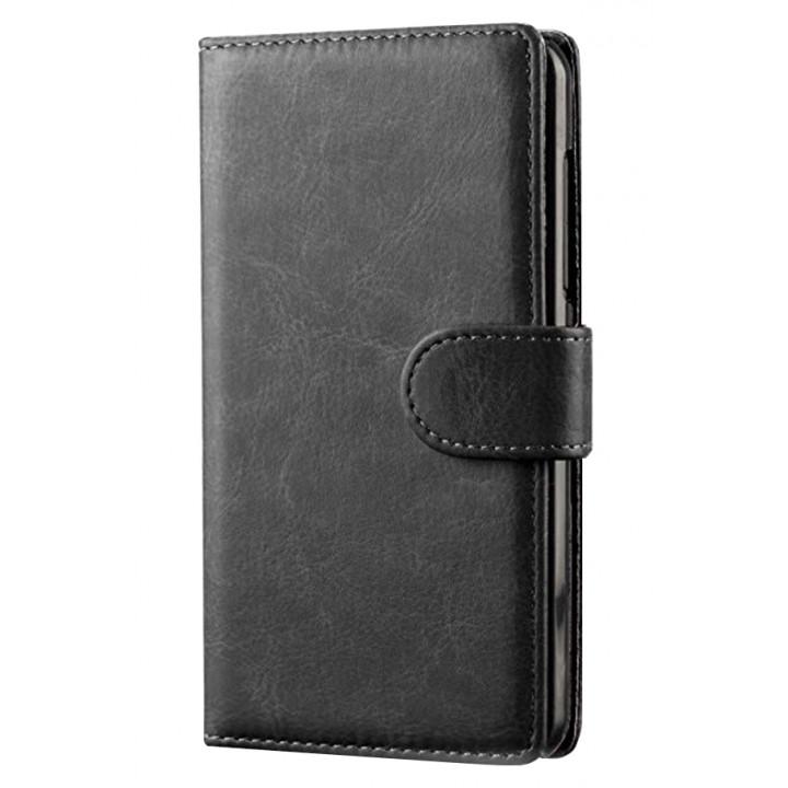Чехол-портмоне кожаный  для BlackBerry Classic черный