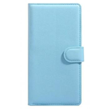 Чехол-портмоне кожаный  для BlackBerry Classic голубой