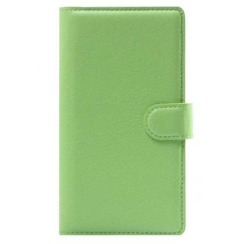 Чехол-портмоне кожаный  для BlackBerry Classic зеленый