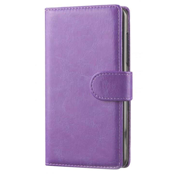 Чехол-портмоне кожаный  для BlackBerry Classic фиолетовый