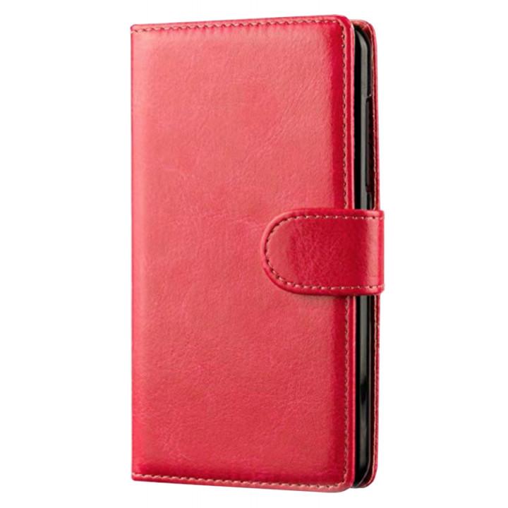 Чехол-портмоне кожаный  для BlackBerry Classic красный