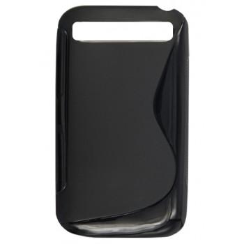 Чехол-крышка  для BlackBerry Classic черный волна