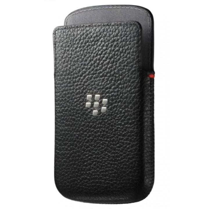 Оригинальный кожаный чехол-карман для BlackBerry Classic черный