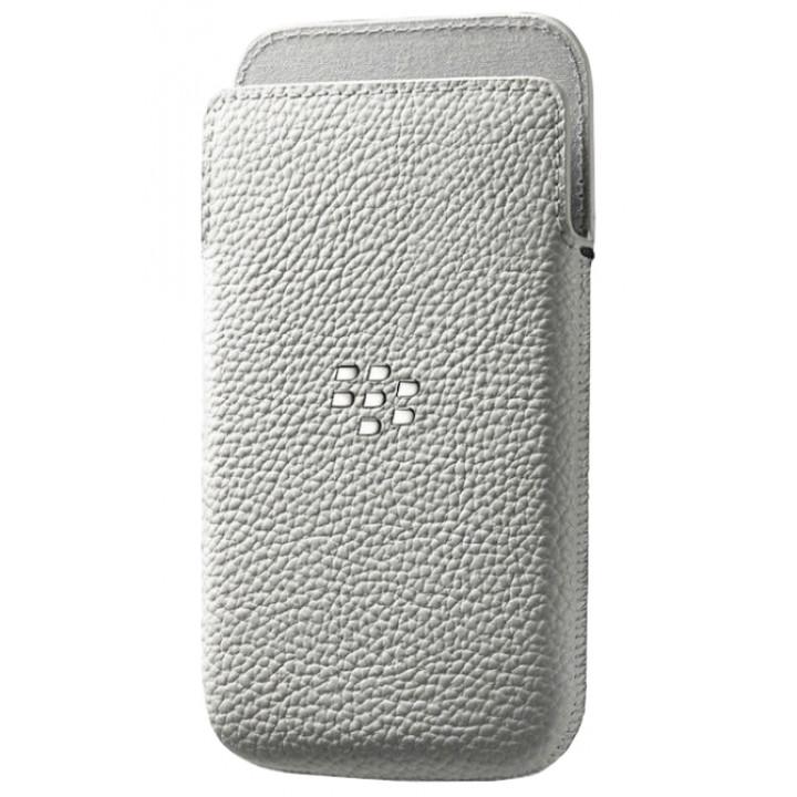 Оригинальный кожаный чехол-карман для BlackBerry Classic белый