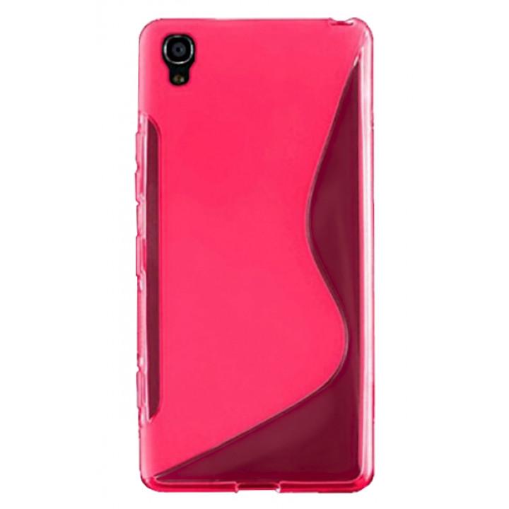 Силиконовый чехол-крышка для BlackBerry DTEK50 розовый