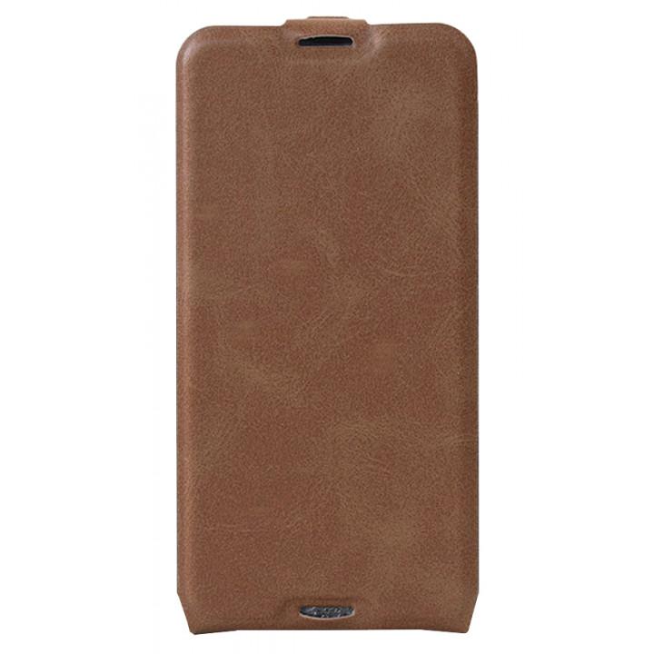 Кожаный чехол-флип для BlackBerry DTEK50 коричневый