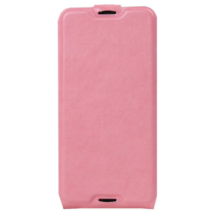 Кожаный чехол-флип для BlackBerry DTEK50 светло-розовый