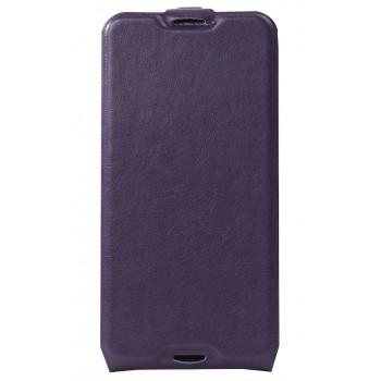 Кожаный чехол-флип для BlackBerry DTEK50 фиолетовый