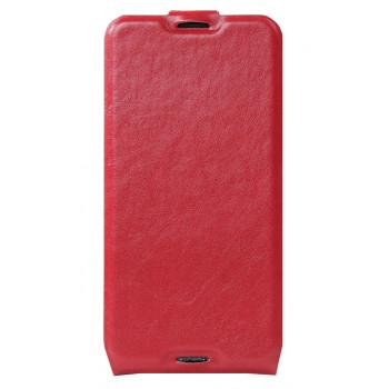 Кожаный чехол-флип для BlackBerry DTEK50 красный