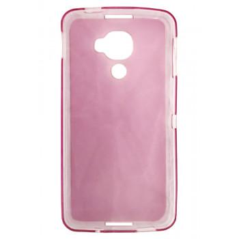 Чехол-крышка для BlackBerry DTEK60 розовый полупрозрачный