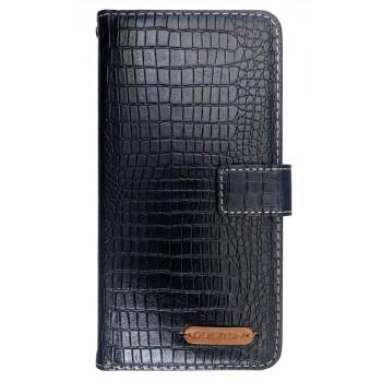 Чехол-книга для BlackBerry Evolve синий, змеиная кожа