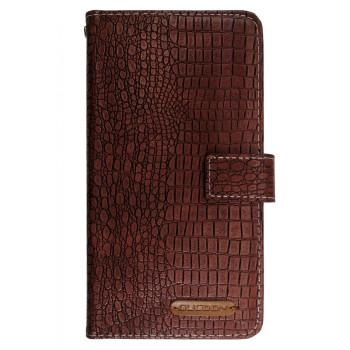 Чехол-книга для BlackBerry Evolve коричневый, змеиная кожа
