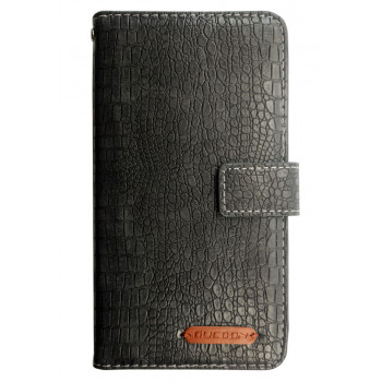 Чехол-книга для BlackBerry Evolve серый, змеиная кожа