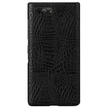 Чехол-крышка для BlackBerry KEY2 черный крокодил