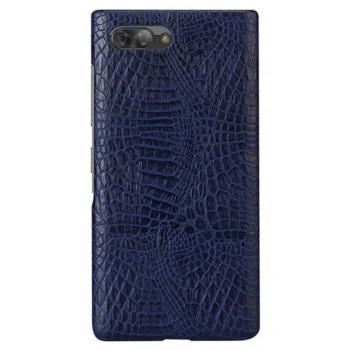 Чехол-крышка для BlackBerry KEY2 синий крокодил