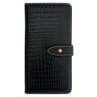 Чехол-книга для BlackBerry KEY2 крокодил черный