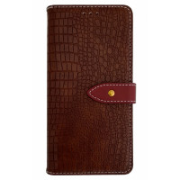 Чехол-книга для BlackBerry KEY2 крокодил коричневый