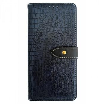 Чехол-книга для BlackBerry KEY2 крокодил синий