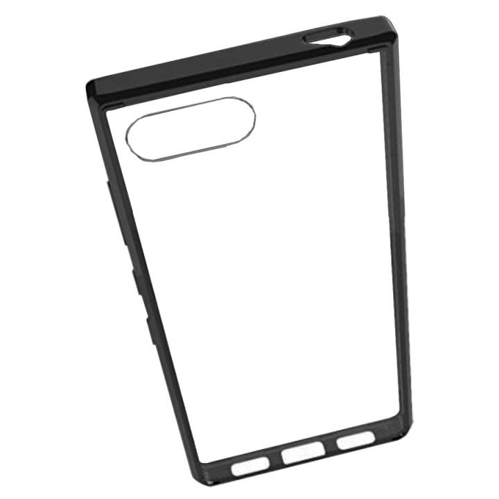 Чехол-крышка для BlackBerry KEY2 прозрачный с черной рамкой