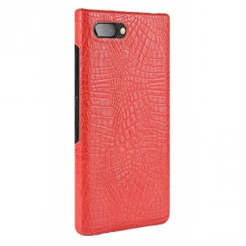 Чехол-крышка для BlackBerry KEY2 красный крокодил