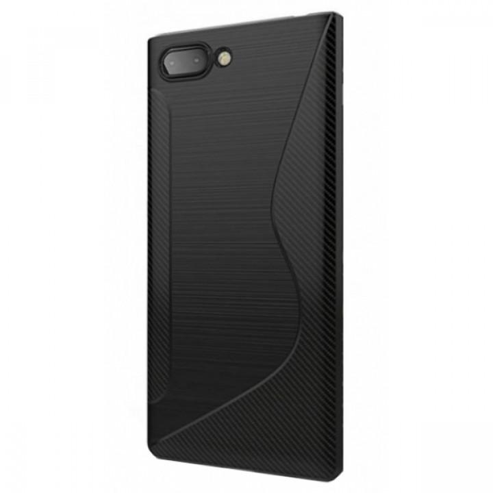 Чехол-крышка для BlackBerry KEY2 черный волна