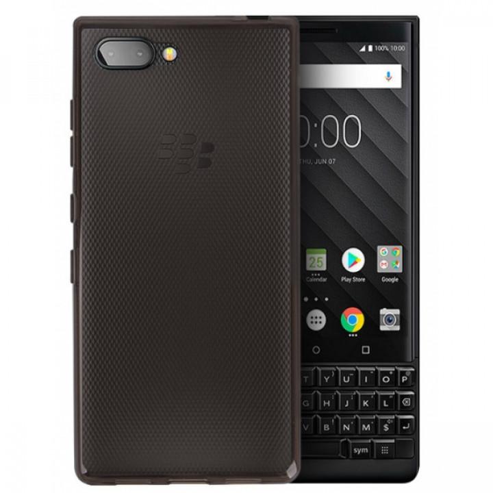Чехол-крышка для BlackBerry KEY2 силиконовый серый