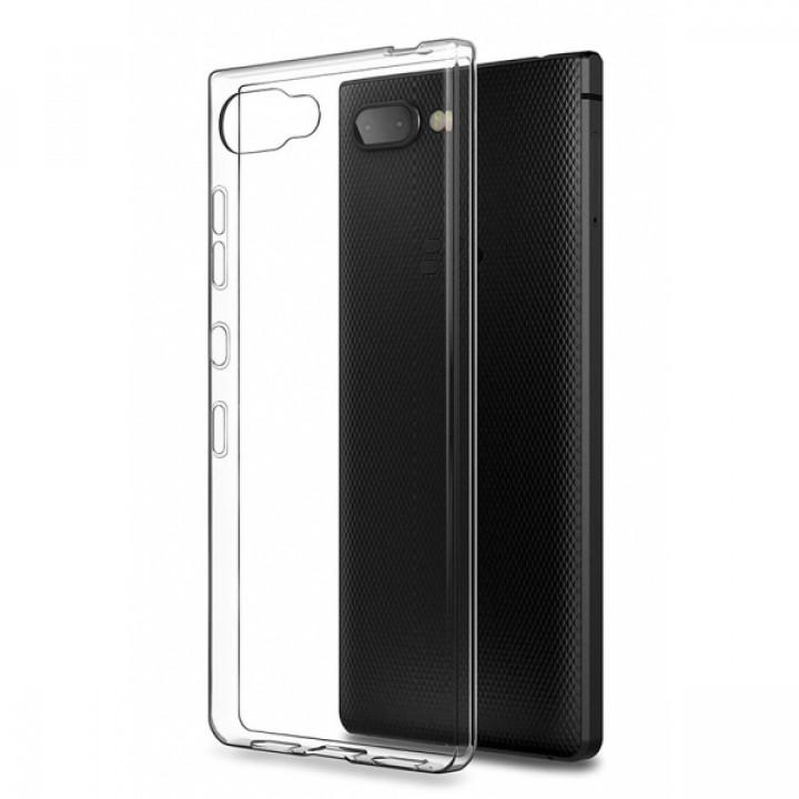 Чехол-крышка для BlackBerry KEY2 прозрачный силиконовый