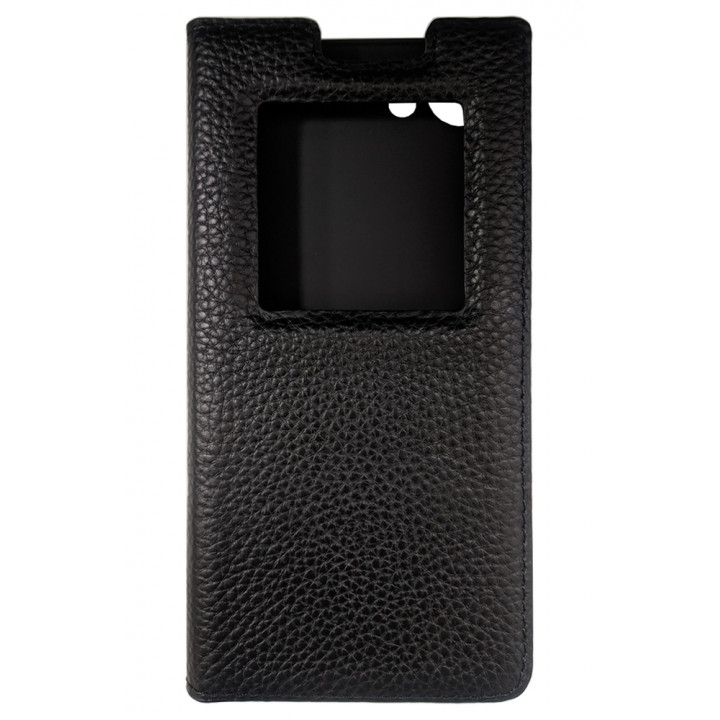 BlackBerry KEYone черный кожаный чехол-книга