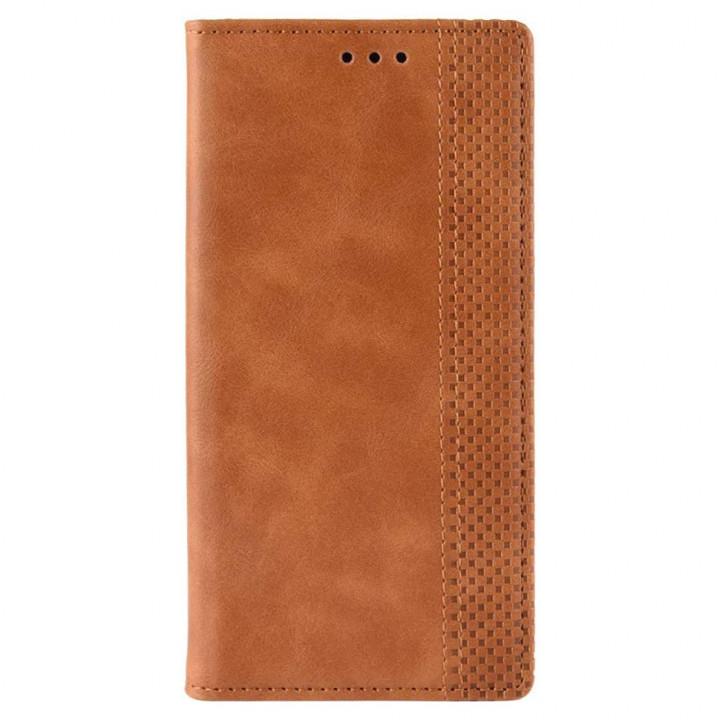 Чехол-книга коричневый для BlackBerry KEYone
