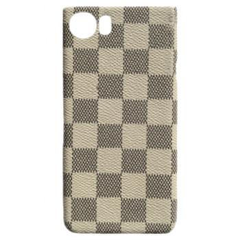 Чехол-крышка для BlackBerry KEYone клетка бежевая