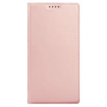Чехол-книга для BlackBerry KEYone розовый матовый