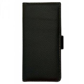Кожаный чехол-книга для BlackBerry KEYone черный