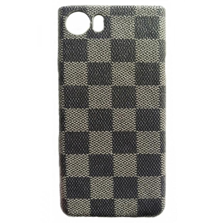 Чехол-крышка для BlackBerry KEYone клетка серая