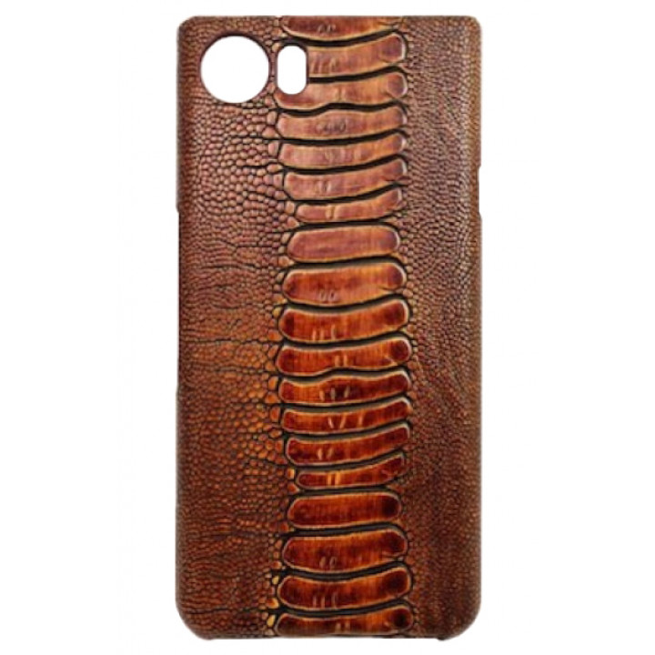 Кожаный чехол-крышка для BlackBerry KEYone коричневый
