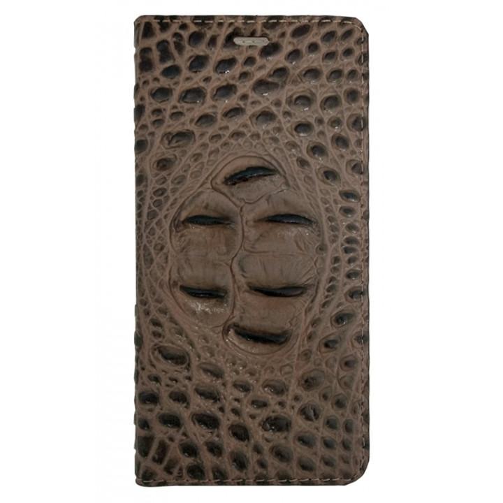 Кожаный чехол-книга для BlackBerry KEYone крокодил