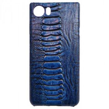 Кожаный чехол-крышка для BlackBerry KEYone синий