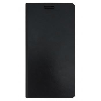 Кожаный чехол-книга для BlackBerry Leap черный