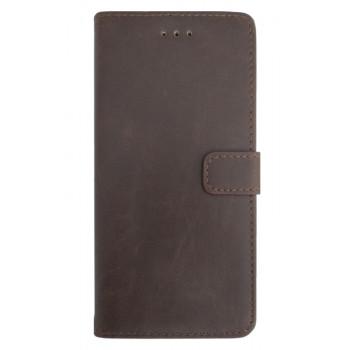 Чехол-книга для BlackBerry Leap кожаный коричневый