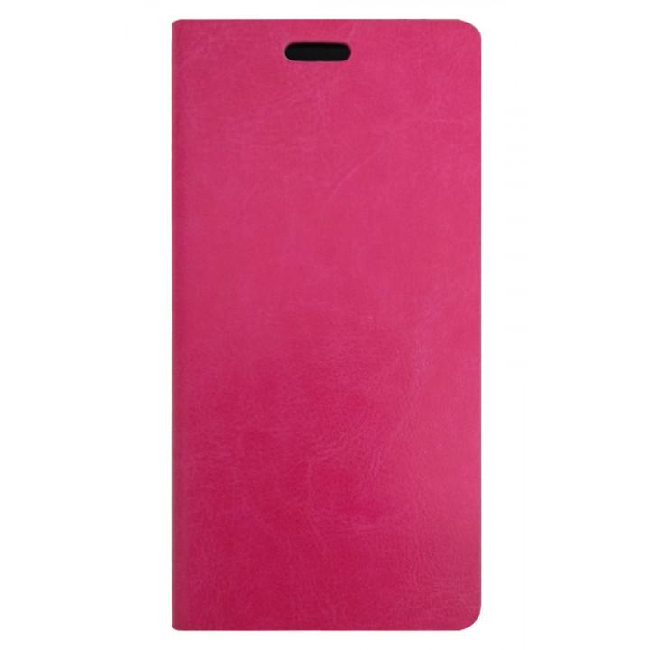 Кожаный чехол-книга для BlackBerry Leap розовый
