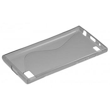 Силиконовый чехол-крышка для BlackBerry Leap серый