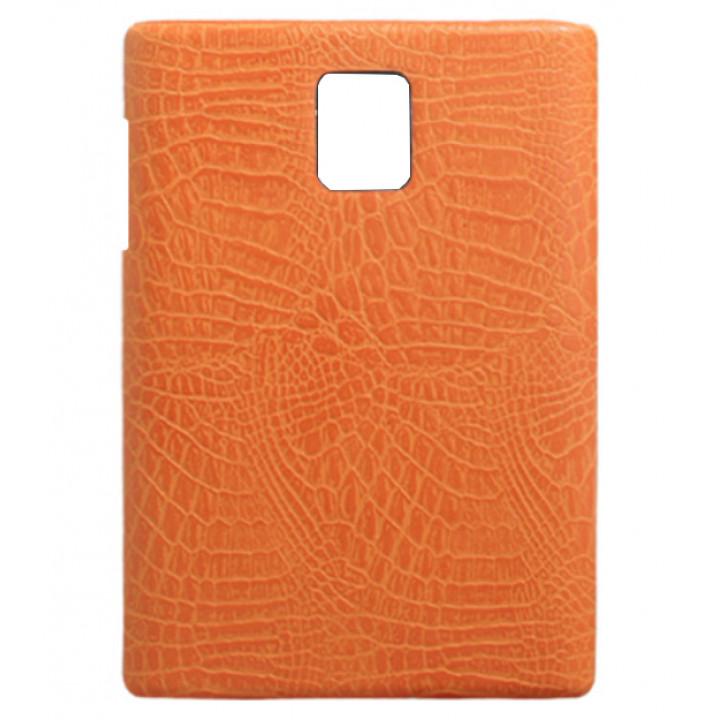 Чехол-крышка для BlackBerry Passport оранжевый крокодил