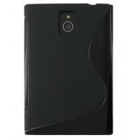 Чехол-крышка для BlackBerry Passport черный, волна