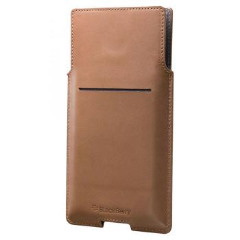 Оригинальный коричневый чехол-карман для BlackBerry PRIV