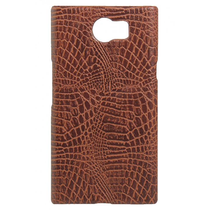 Кожаный чехол-крышка для BlackBerry PRIV коричневый
