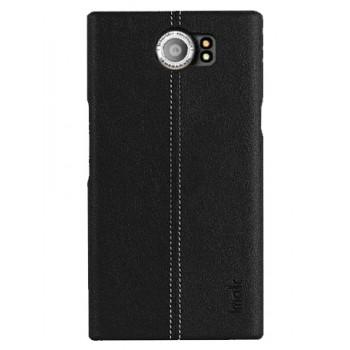 Чехол-крышка кожаный для BlackBerry PRIV черный