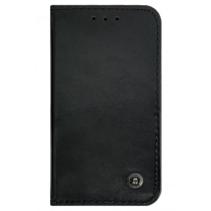Чехол-книга для BlackBerry Q10 черный с эмблемой