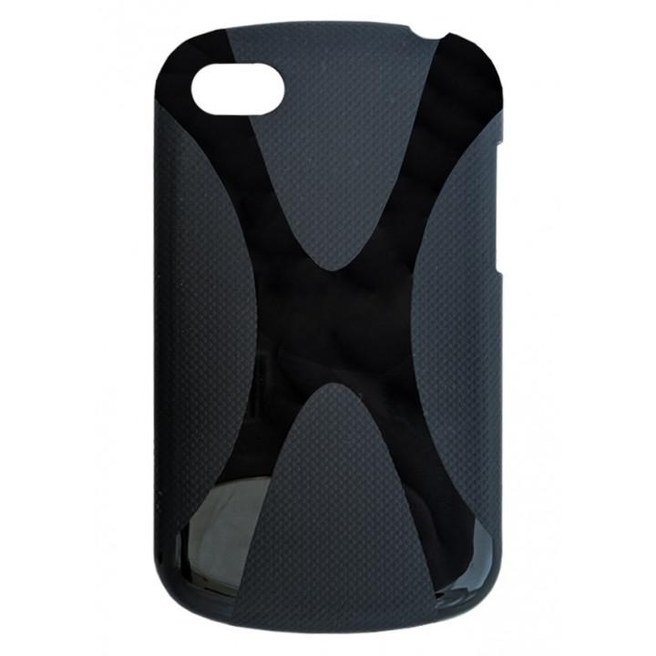 Черный чехол-крышка BlackBerry Q10 с узором - Х